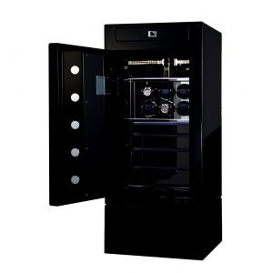 LUXURY WATCH WINDER SAFE BOX SRW-J90006BLA-SB for 6 watches