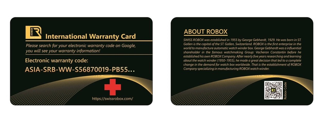 The Swiss Robox box electronic warranty card: Nguyen Hoang Bao An ASIA-SRB-WW-S56870019-PB5605